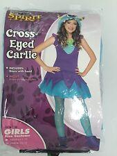 Spirit Halloween Criss-Eyed Carlie Monster Girls Costume Sz L (10-12)