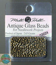 Mill Hill Antique Glass Beads 2.63g Mocha #03024