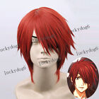D.Gray-Man Lavi Cosplay Short Dark Red Anime Cosplay Hair Wig Free Shipping NEW