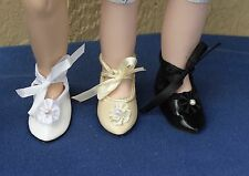 "Doll Shoes - S173 French Style size 9 (1-3/4"") length: CHOICE of color."