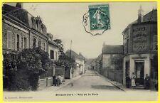 cpa 95 - BESSANCOURT (Val d' Oise)  RUE de la GARE HÔTEL CHASSEURS Maison PIOT