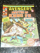 THE AVENGERS Staring SHANG-CHI Master of KUNG FU - No 37 - Date 01/06/1974