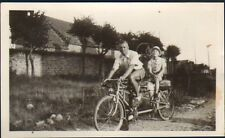 PHOTO BICYCLE VELO TANDEM