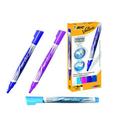 BIC VELLEDA LIQUID INK FASHION DRYWIPE MARKERS - PACK OF 4 ASSORTED **GREAT PRIC