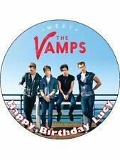 """7.5"""" The Vamps Personalised Edible Icing Cake Topper"""