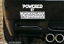 Powered By The Darkside,  Stickers, Decals, Funny Star Wars, Darth Vader, Sith