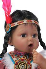 "50cm/ 20""Very popular&rare Native American Indian reborn baby doll"