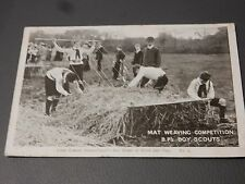 """BOY SCOUTS early Postcard Work and Play no 5 Official Postcard """" The Scout """""""