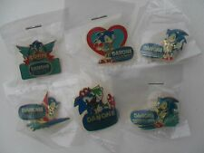 SONIC the Hedgehog SEGA 1991 Rare SET 6 Enamel METAL PIN BADGES Pins Badge LOT