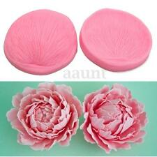 3D Rose Flower Petal Leaf Silicone Fondant Mould Cake Decor Chocolate Baking DIY