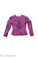 *PAUL SMITH* PAUL PURPLE PEPLUM LONG SLEEVE TOP (42)