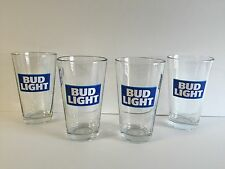 Bud Light Pint Glass New Logo 2016 - Set Of Four (4) Glasses - NEW & Well Packed
