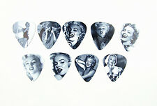 10pcs 0.71mm Sexy Musical Accessories Marilyn Monroe Mix Guitar Picks Plectrums