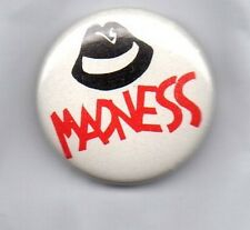 MADNESS  - BUTTON  BADGE - UK SKA / 2-TONE  UK BAND - SUGGS - 25mm PIN