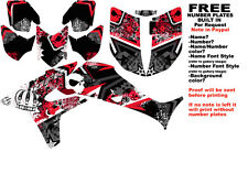 DFR SUBCULTURE GRAPHIC KIT BLACK/RED SIDES/FENDERS 04-05 HONDA TRX450R TRX 450