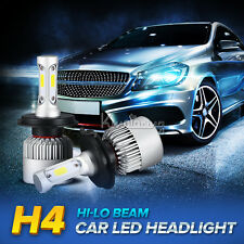 2pcs H4/HB2/9003 120W COB Hi-Lo Beam LED Headlights Bulbs 12000LM 6500K Car