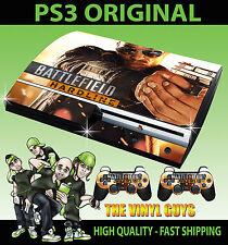 PLAYSTATION PS3 ORIGINAL BATTLEFIELD HARDLINE 01 SHOTGUN SKIN & 2 X PAD SKINS