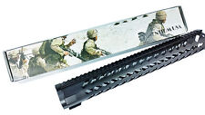 "15"" Free Float Handguard Keymod Quad Rail,Steel Barrel Nut"