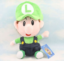 Baby Luigi 7in Super Mario Bros Plush Toy Collectible Game Stuffed Animal Doll