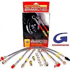 BMW M5 E60 Goodridge Brake Line Set Braided Lines Hoses SBW0500-4P