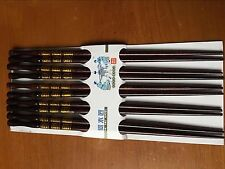 5 Pairs Chopsticks Classic Bamboo Wood Assorted Chinese multicolor pattern A033