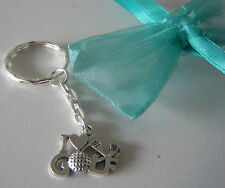 I LOVE GOLF KEYRING BAG CHARM FAVOR PRIZE PARTY BAG FILLER GOLFER GIFT GOLFING