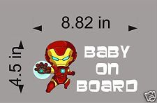 IRONMAN BABY, Baby on Board, car window decal, sticker, graphic
