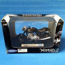 NORTON COMMANDO 961 SE 1:18 BLACK & GOLD WELLY with DISPLAY STAND 2015