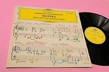 STOCKHAUSEN LP MANTRA ORIG GERMANY NM !! AVANT GARDE CONTEMPORARY !!!