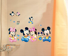 Cartoon Mickey&Minnie Art Wall Stickers Decals Kids Baby Bedroom Decor Removable