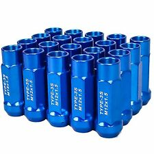 TYPE 3-X 55MM STEEL OPEN END ALUMINUM LUG NUTS 20 PCS. SET M12 X 1.5 BLUE
