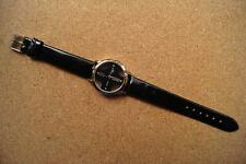 LADIES Round Womage Quartz Black Transparent Watch with Diamond like stones