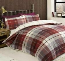 Lomond Super King Duvet Set 100% Brushed Cotton Flanelette Red CHEAPEST ON EBAY
