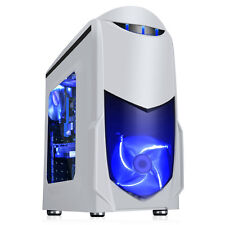 GAME MAX NERO WHITE BLUE MATX MITX USB 3.0 PC COMPUTER GAMING CASE - SIDE WINDOW