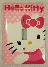 Hello Kitty Light Switch Cover -  by Sanrio - Metal with Screws - Preowned