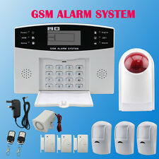 LCD WIRELESS GSM Sistema D'Allarme Casa Home Office Autodial INTRUDER GUARD SICUREZZA