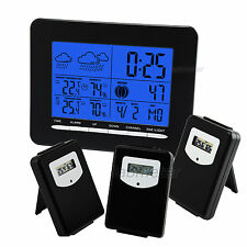 Wireless Weather Station 3 sensors Digital Thermometer Humidity Indoor Outdoor