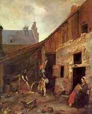 Terborch Gerard The Family Of The Stone Grinder 5 A4 Print