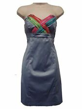NWT Jump Girl Blue Strapless Zipper Dress Size 3/4 Unique!!