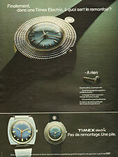 Publicité Advertising 1973  Montre TIMEX electric