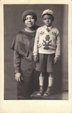 AFRICAN AMERICAN MOTHER AND SON (VINTAGE POSTCARD 1926-1940)