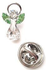 Swarovski Crystal Elements Birthstone Guardian Angel Pin August Peridot