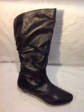 Finish The Look Black Knee High Leather Boots Size 7