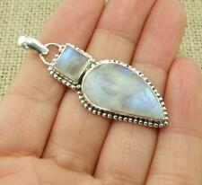 Moonstone 925 Silver Pendant Indian Jewellery Real Little Gems