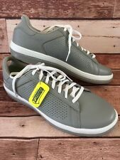 NEW Men's Sketcher goga mat / on-the-go Grey Leather Athletic Shoes. Size 12