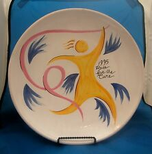 1995 Susan G. Komen Race For The Cure DERUTA Collector's Plate Ft Worth Signed