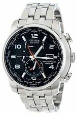 NIB NEW CITIZEN ECO-DRIVE ATOMIC AT9010-52E WORLD TIME 26 TIME ZONES MEN'S Watch
