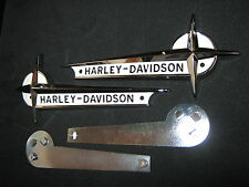 HARLEY 61-62 OEM PANHEAD GAS FUEL TANK EMBLEMS & MOUNT MOUNTING BRACKET KIT