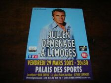 JULIEN CLERC - RARE FLYER PALAIS DES SPORTS !!!!!!!!!!!