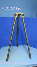 MCCOM TT66L 3 Stage Alum Tripod w/ 100mm Bowl NEW for Sachtler, Vinten, Cartoni